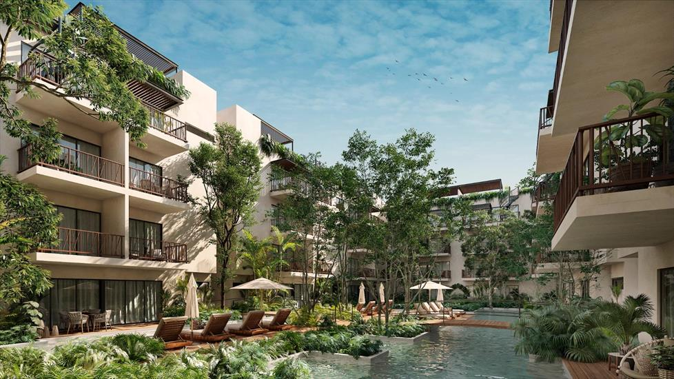 New built 1 - 2 bedroom apartments in Tulum